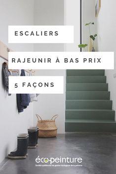 Il existe plusieurs façons de revamper vos escaliers à bas prix!   #escaliers #escaliersinterieur #rangement #décomaison #maisondecor