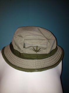 d0c6653d944 Marijuana Plant Khaki Fishing Bucket Hat    READY TO SHIP