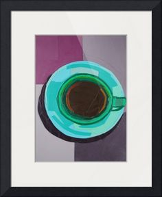 Green Coffee Cup by Megan Coyle Green Coffee Cups, Coffee Cup Art, Green Colour Palette, Green Colors, Framed Wall Art, Wall Art Prints, Clean Technology, Collage Making, Collage Artists