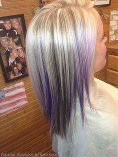 By+Katie+Koste.+#black+#purple+#blonde++@Bloom.com