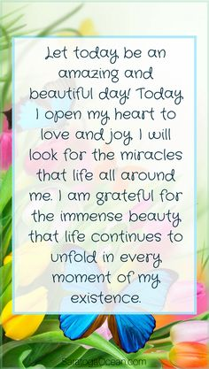 Affirmations are a great way to establish a positive focus and mindset for the day. Write or say the words, absorb them, and set an intention to make them your reality today. If you need reminders during the day, you can write the affirmation on a piece o http://www.loapower.net/category/loa-power/