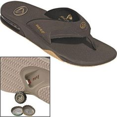 e74f28798e4 Flip Flop Bottle Opener Makes You The MacGyver Of The Beach. Reef knows  what s up - the Men s Fanning Sandals ...