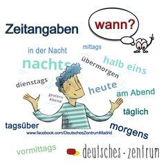 Wann Zeitangaben Deutsch Wortschatz Grammatik German DAF Alemán