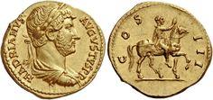 Imperial Rome AV Aureus ND Rome Mint circa 134/38AD 7.38g. Emperor Hadrian 117-38AD