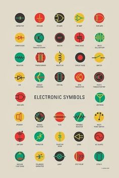 Basic Electrical And Electronics Symbols For Engineering Students Electrical symbols or electronic circuits are virtually represented by circuit diagrams. There are some standard symbols to represent the components in a circuits. Electronic Circuit Projects, Electronic Engineering, Electrical Engineering, Engineering Humor, Engineering Symbols, Physics Humor, Engineering Courses, Electronics Components, Electronics Gadgets