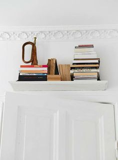 and I love shelves above doors <3