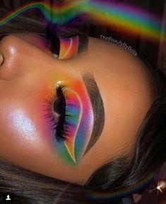 Gorgeous Makeup: Tips and Tricks With Eye Makeup and Eyeshadow – Makeup Design Ideas Makeup Eye Looks, Eye Makeup Art, Colorful Eye Makeup, Cute Makeup, Gorgeous Makeup, Eyeshadow Makeup, Eyeliner, Makeup Brushes, Eyeshadows
