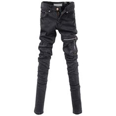 Skinny Jeans with Seam and Zip Front Details