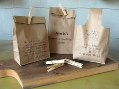 Printing on paper bags is my newest obsession! Just need to remember which way the bag goes for which printer!