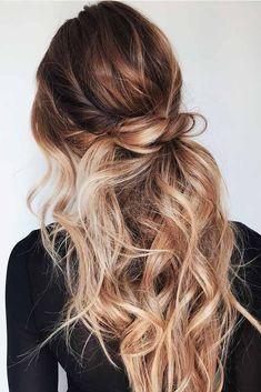 Popular Balayage Hair Looks Women - Othence Messy Hairstyles, Pretty Hairstyles, Straight Hairstyles, Wedding Hairstyles, Casual Hairstyles, Urban Hairstyles, Short Haircuts, Hairstyles Videos, Layered Hairstyles