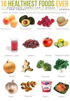 16 Healthiest Foods Ever.