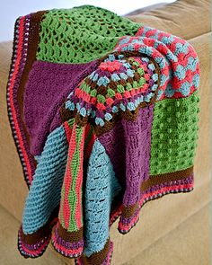 "Crochet Stitch Sampler Blanket pattern by Marlaina ""Marly"" Bird"