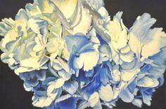 """Saatchi Art Artist Ron Harris; Painting, """"Hydrangeas #2"""" #art"""