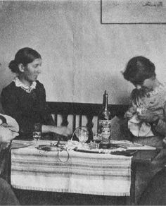Danish painter Anna Ancher (1859-1935) and Marie Kroyer