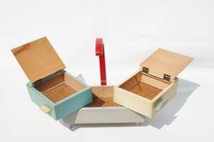 Colorful vintage sewing box Art Deco от zeitlooos на Etsy