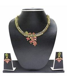 Zaveri Pearls Necklace with Earrings | I found an amazing deal at fashionandyou.com and I bet you'll love it too. Check it out!