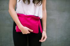 Wristlet Suede Clutch, Pink Suede Pouch, Pink Leather Bag, Hand Bag Suede, Unique Design, Zipper Pouch, One Of a Kind Suede Bag - pinned by pin4etsy.com