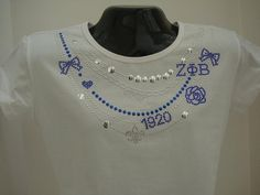 Zeta Phi Beta Necklace Shirt 3XL