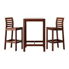 IKEA - ÄPPLARÖ, Bar table and 2 bar stools, For added durability and so you can enjoy the natural expression of the wood, the furniture has been pre-treated with several layers of semi-transparent wood stain.You can make your chair more comfortable and personal by adding a chair pad in a style you like.