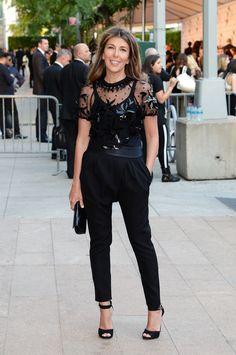 Nina Garcia Embellished Top - Nina Garcia donned a sheer, embellished black top for the CFDA Fashion Awards.