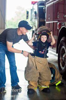 Little boy photography ideas...firefighter theme.