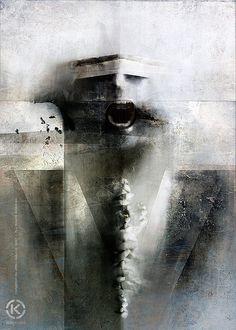 Dark Mixed Media Artworks by Jarek Kubicki | Cruzine