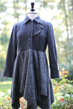 Jacket /Wool / upcycled by irinale on Etsy