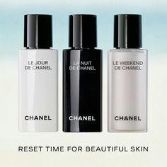 CHANEL   Resynchronizing Collection: Le Jour, La Nuit e Le Weekend  #chaneltrio #chanel #skincare #blogger
