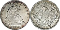 1853 O Seated Liberty Half Dollar - With Arrows at Date and Rays on Reverse