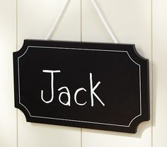 I will be making these as opposed to spending almost $50 a piece for three of them... None the less it is super cute. Chalk Door Sign | Pottery Barn Kids
