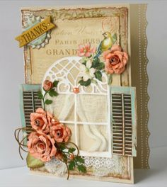 Bo Bunny: Celebrate Card Making with The Avenues and Gabrielle Pollacco who designed this stunning card. Love the window! #BoBunny, @Gabrielle Pollacco
