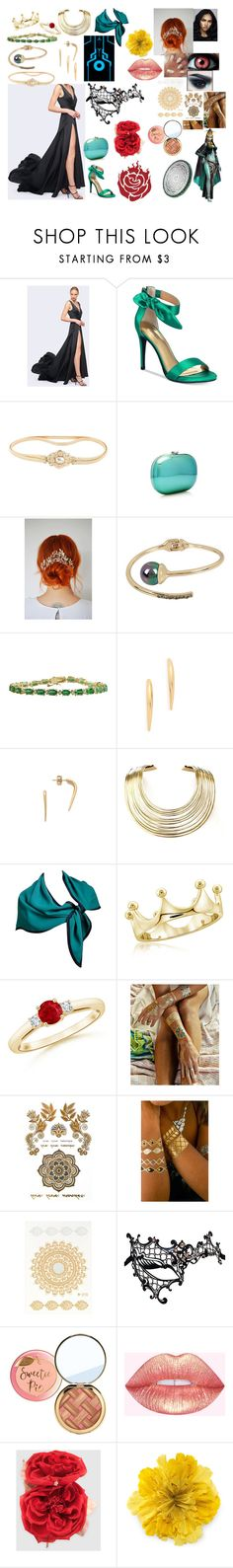"""""""Šafaq Teal: formal"""" by okamikun ❤ liked on Polyvore featuring Fame & Partners, Thalia Sodi, Schreiner, Jeffrey Levinson, Kenneth Cole, Venom, Alexis Bittar, Campbell, Bisjoux and Yves Saint Laurent"""