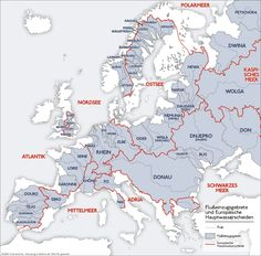 River Catchment Areas of Europe