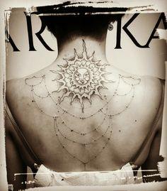 Mandala sun ornament face henna tattoo dotwork black cheyenne pen love first s