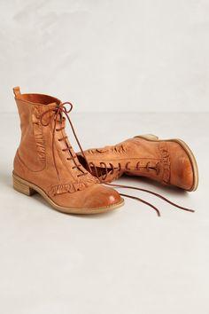 Ruffled boots cute!