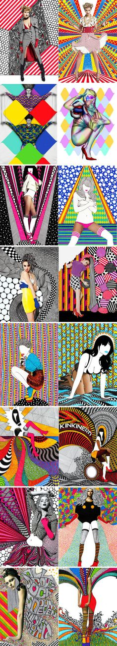 Pop Art Fashion, Art Plastique, Photo Illustration, Graphic Design Inspiration, Belle Photo, Kitsch, Art Direction, Collage Art, Art Lessons