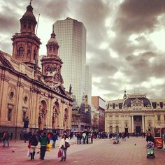 Plaza de Armas - Santiago, Chile. View out of my hostel :)