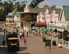 Spend a day at Gold Reef City replica of mining town and also fun park in Johannesburg - Gauteng - South Africa Johannesburg City, Pretoria, Countries Of The World, Live, Land Scape, Cool Places To Visit, South Africa, The Good Place, Tourism