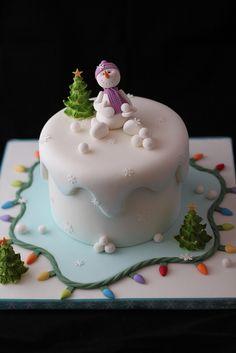 Winter Wonderland cake, via Flickr.