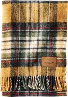 For long flights and windy tailgates a cozy blanket is always a good idea. The Pendleton Carry Along Motor Robe blanket comes with a leather carry strap so you can get toasty-warm anytime anywhere. Fall Plaid, Tartan Plaid, Plaid Blanket, Plaid Scarf, Pendleton Wool, Pendleton Blankets, Emergency First Aid Kit, Camping Blanket, Cozy Blankets