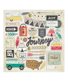 Look at this 'Journey' Chipboard Sticker - Set of 42 on #zulily today!