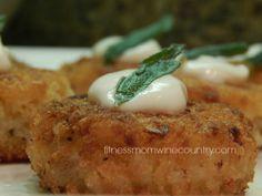 Homemade Pumpkin Risotto Cakes #sage #truffleoil #pumpkin #dinnerparty #yummy
