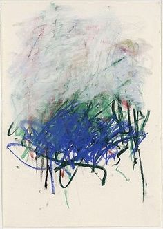 Artist: Joan Mitchell, pastel on paper, 1992