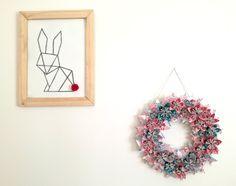 Déco de Pâques: cadre lapin origami - Truc & Tricks