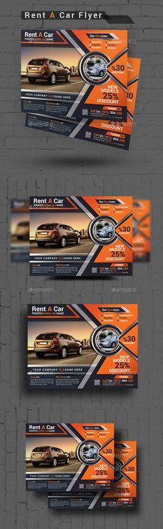 Rent A Car Flyer — Photoshop PSD #meeting car #sightseeing car • Available here → https://graphicriver.net/item/rent-a-car-flyer/15211705?ref=pxcr