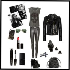 """""""Rocker Style"""" by catalina-corbelli ❤ liked on Polyvore"""