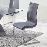 Global Furniture - Side Chair with Curved Back (Set of 2) - D989DC  SPECIAL PRICE: $335.01