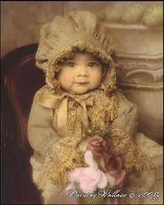 Vintage Baby with Bonnet ~Dorothy Wallace
