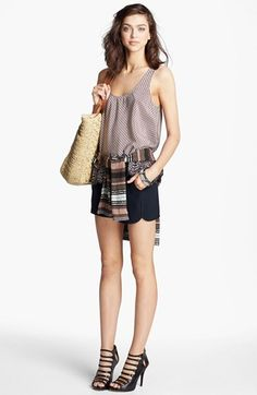 Joie Silk Tank, Rachel Roy Stripe Top & Trina Turk Shorts  available at #Nordstrom