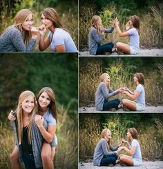 Not from a wedding, but any of these would make for cute photos of the bride and her maid of honor Bff Pics, Friend Senior Pictures, Senior Pics, Best Friend Pictures, Friend Photos, Senior Portraits, Bff Pictures, Cute Sister Pictures, Twin Senior Pictures